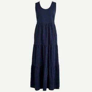 J. Crew Tiered Maxi Dress in Navy
